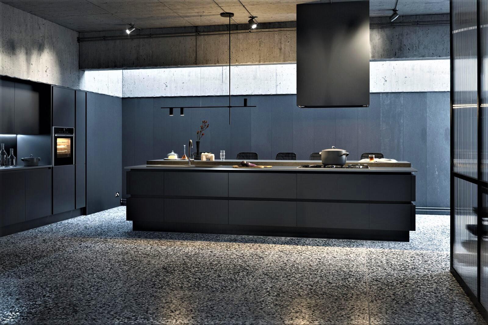Дизайнерская кухня для большого дома