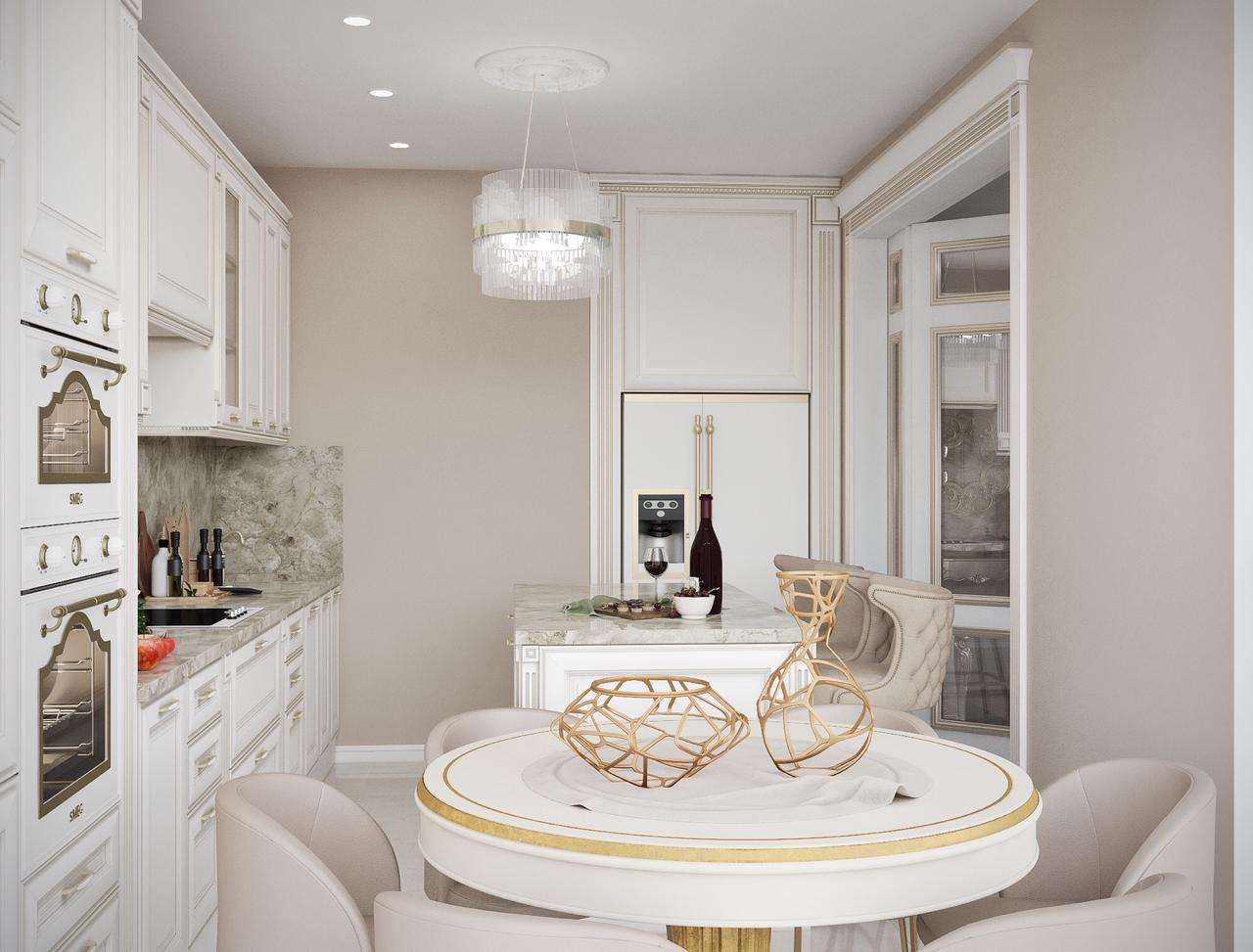кухня на заказ с фрезерованными фасадам МДФ